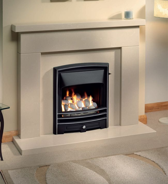 Lunar High Efficiency Inset Gas Fire, From The Gallery Collection