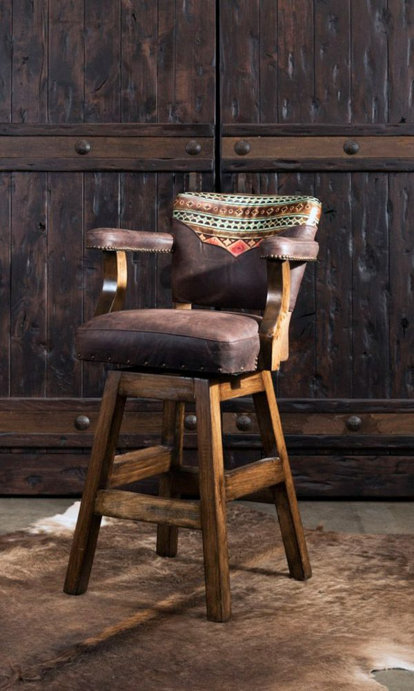 6 High End Barstools To Add To Your Western Home Cowgirl Magazine Western Furniture Rustic Bar Stools Western Home Decor