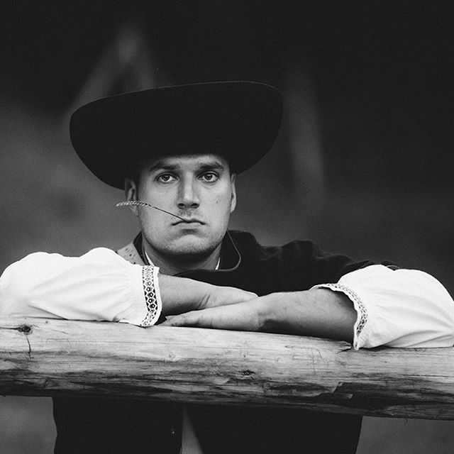 Portrait of a young man in traditional folk clothes of Orava region - Slovakia