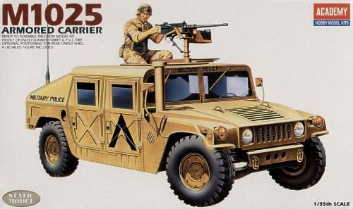 M1025 Hummer Armored Carrier. Academy, 1/35, injection, No.13241. Price: 9,90 GBP.