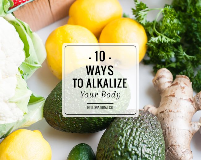 Learn how to alkalize your body in 10 easy steps. A balanced pH can increase your energy, improve your skin and help you lose weight.