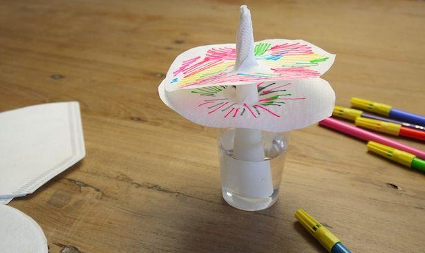 Auf besonderen Wunsch einiger Facebook-Fans ist hier die Anleitung für die Papierblumen aus Kaffee-Filtertüten. So geht das: