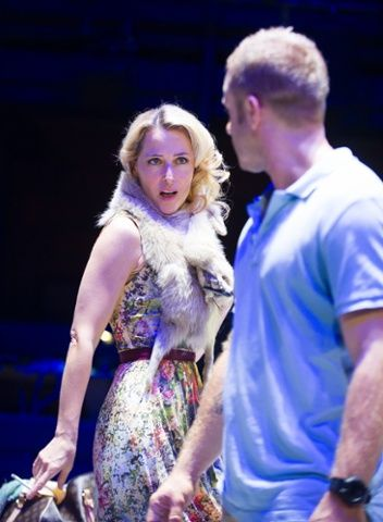 Ben Foster (Stanley Kowalski) and Gillian Anderson (Blanche DuBois).