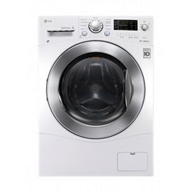 """LG 5.0 cu. Ft. Full Size All-in-One 27"""" Front Load Washer / Dryer Combo, TurboWash™ & Steam Technology - White 