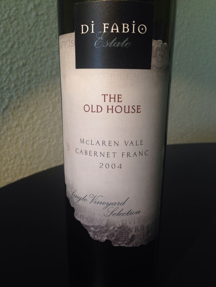 The Old House McLaren Vale Cabernet Franc 2004  This was an amazing drop. Definitely must visit this estate when next in #SA  #DiFabioEstate