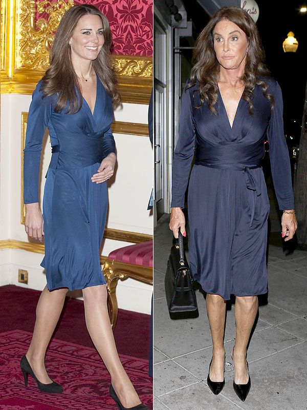 Cait Vs Kate Caitlyn Jenner Wears Princess Kate S Famous