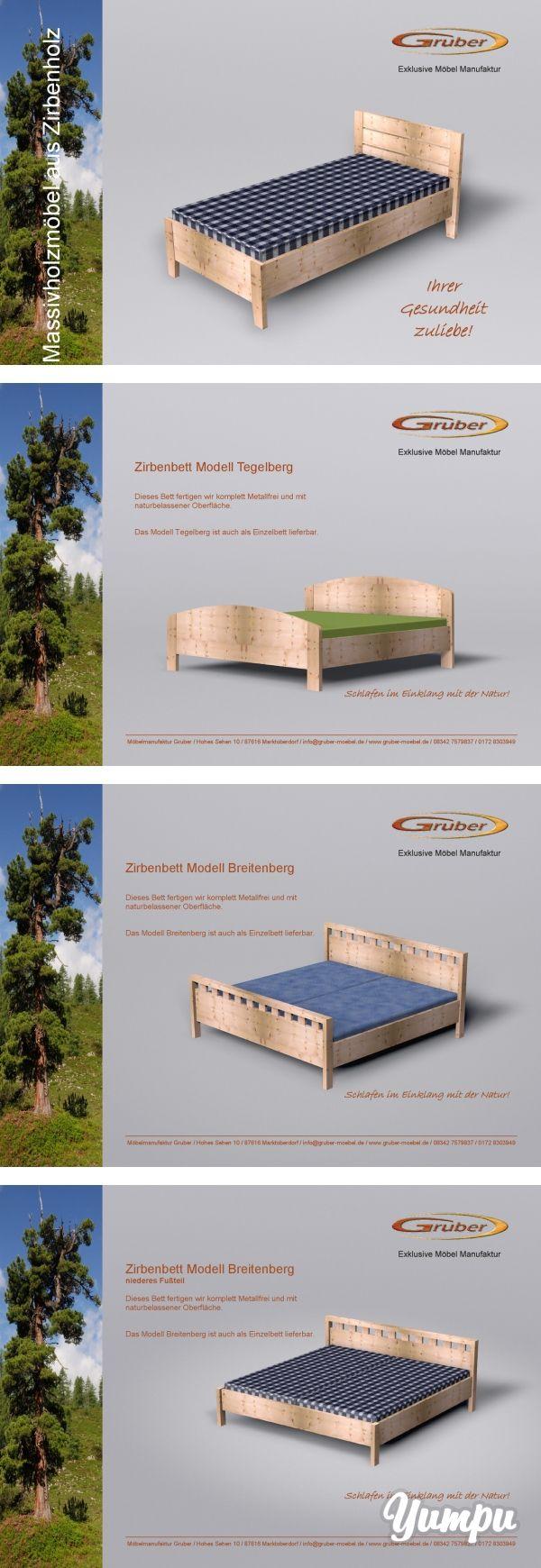 Massivholzmöbel aus Zirbenholz-Betten für einen gesunden Schlaf