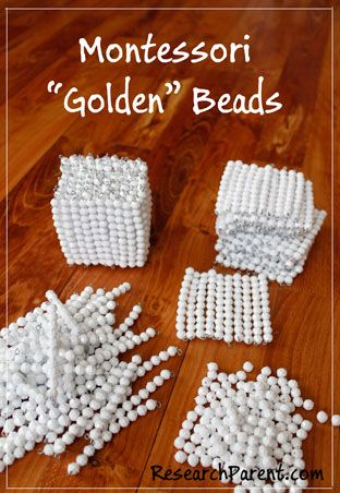 DIY Montessori Golden Beads for Helping your Kindergartener or Elementary School Student with Basic Math