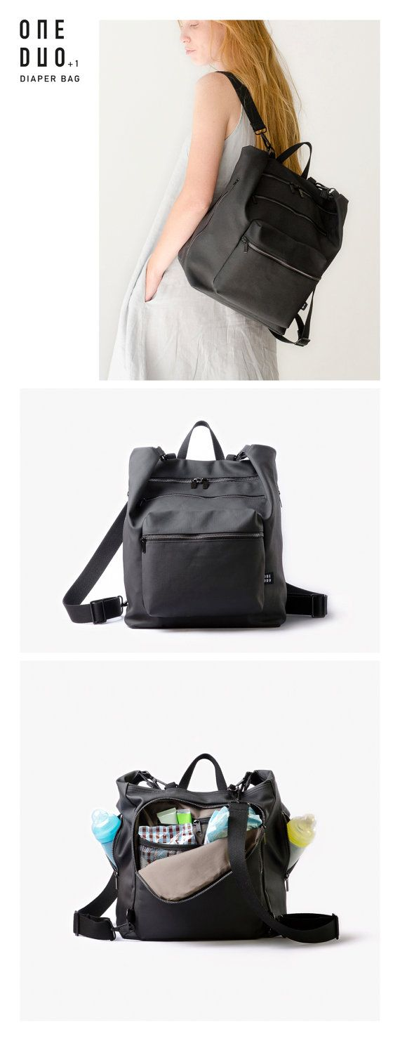 An urban minimalistic unisex diaper backpack, functional for every-day use. This backpack has room for everything we believe is important to have when leaving the house with your baby.  When we became parents we needed a diaper bag. We looked for one that looked good on both of us, easy to use and priced reasonably. As we couldn't find one that answered our needs, we decided to design one, ourselves.  The bag is designed with many pockets and has a versatile strap which can easily turn the…
