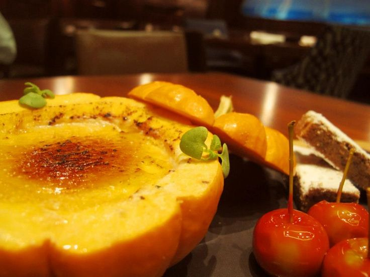 Pumpkin Pie Creme Brulee with Spiced Cookies recipe from the Fairmont ...