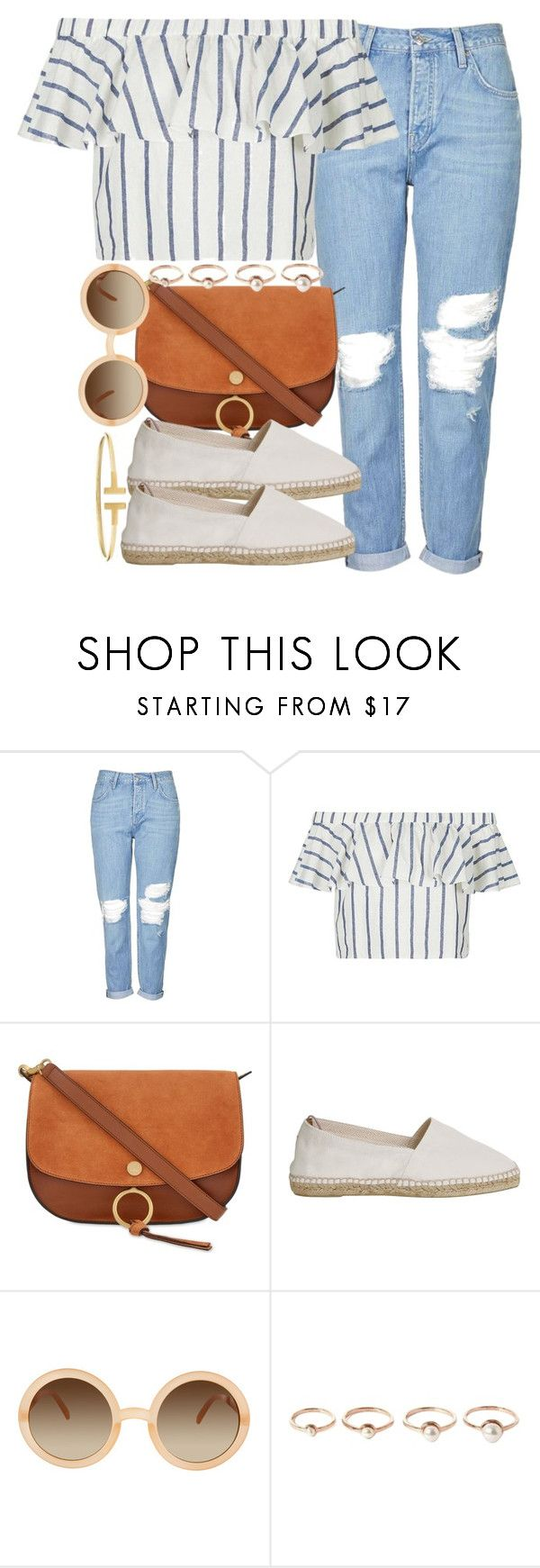 """""""Sin título #3861"""" by hellomissapple ❤ liked on Polyvore featuring Topshop, Chloé, Castañer, ASOS, Eddie Borgo and CO"""