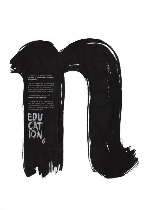 Clean design for poster . Graphic Design . Brush Design . Black and White .