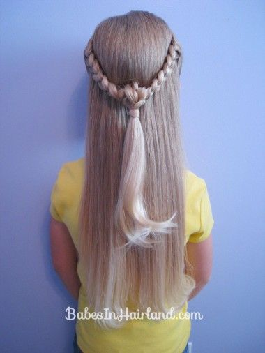 Knotted Braid Pullback (7): Hair Ideas, Hairstyles Nails, Braids Pullback, Knot Braids, Cutie Hair, Knotted Braid, Ains Hair, Cute Hair Styles, Braids Galore