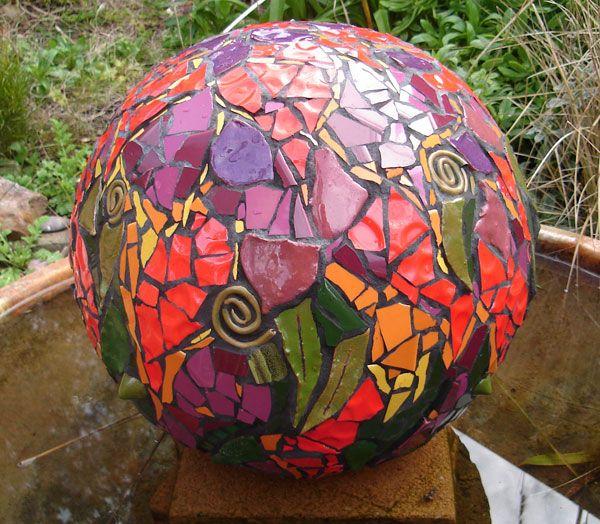 Mosaic garden orb