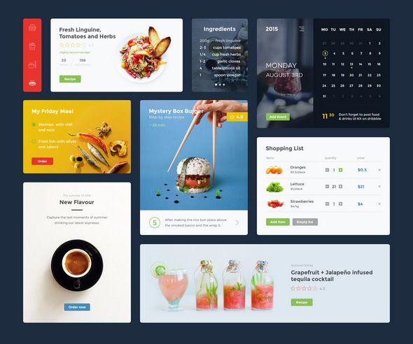Food UI PSD Kit