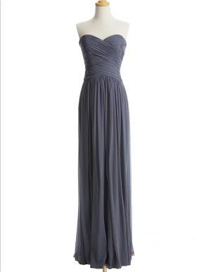affordable long dark grey sleeveless prom dress   Cheap full length Sale