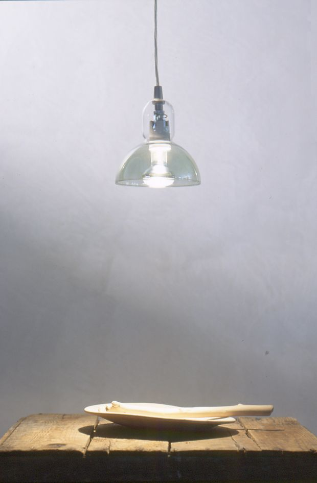 Produzione Privata Lampada Ipycoppa with green reflections, borosilicate glass, 2002 Ph. Michele De Lucchi