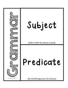 Best 25+ Subject predicate activities ideas on Pinterest