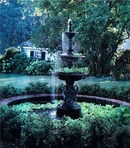 Classic French Victorian Garden Fountain Swan Base 3 Tier Antique Reproduction   eBay