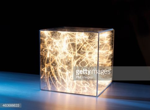 Stock Photo : Trail of bright light in box