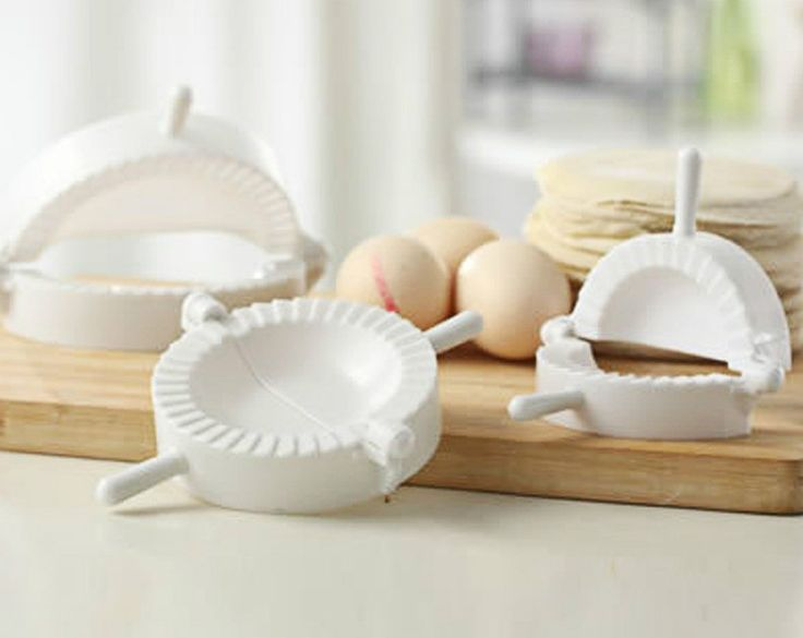 3 Pc Set, Dumpling Mold Turnover Empanada Dough Press, White