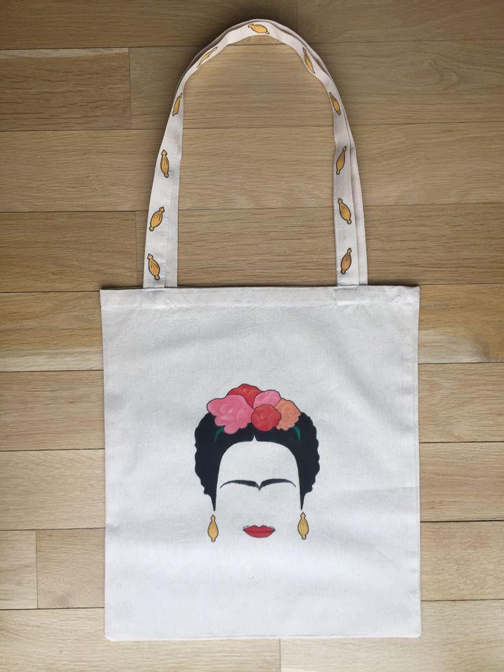 """Frida"" handpainted totebag"