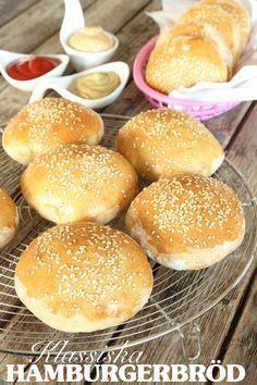 Hamburgerbröd   Tidningen Hembakat