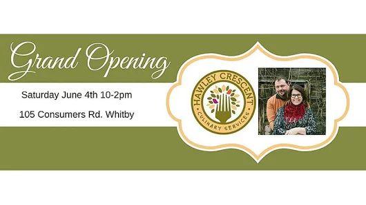 Hawley Crescent Culinary Services Grand Opening #AYRFCIWhitby #Whitby #WhitbyEvents #WhitbyEvent https://www.facebook.com/events/535510193240851/