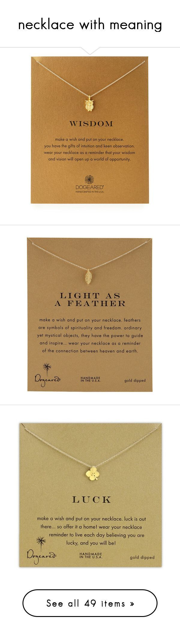 """""""necklace with meaning"""" by johannajeanne ❤ liked on Polyvore featuring jewelry, necklaces, gold, 14k chain necklace, pendants & necklaces, hand crafted jewelry, 14k pendant, dogeared jewelry, accessories and 14 karat gold necklace"""