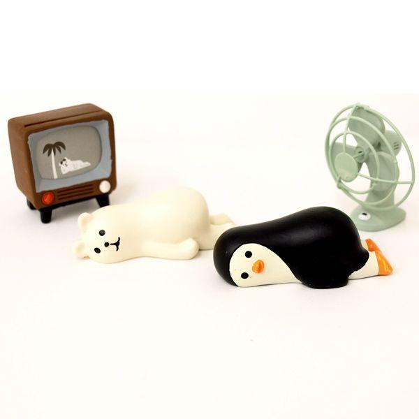 【现货】日本DECOLE zakka 2015夏 企鹅白熊 系列玩偶 摆件-淘宝网