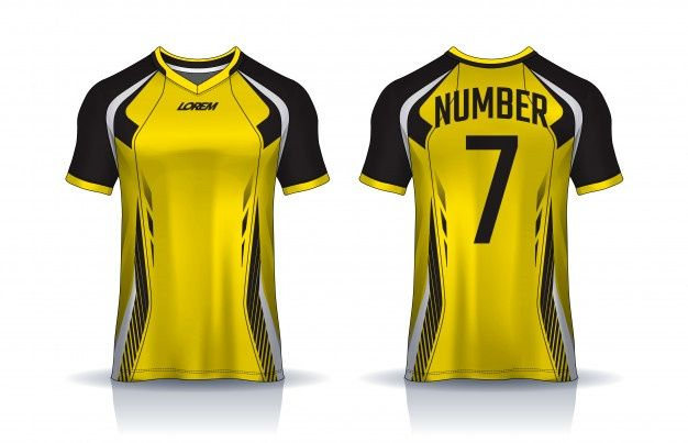 Soccer Jersey Template Vector Premium Download In 2020 Sports Tshirt Designs Sports Design Sport T Shirt