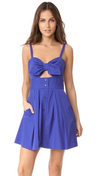 Milly Jordan Tie Mini Dress