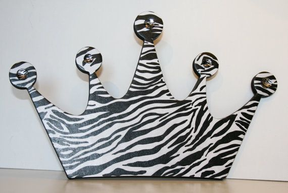 Hey, I found this really awesome Etsy listing at http://www.etsy.com/listing/150052609/princess-crown-wall-decor-zebra-decor