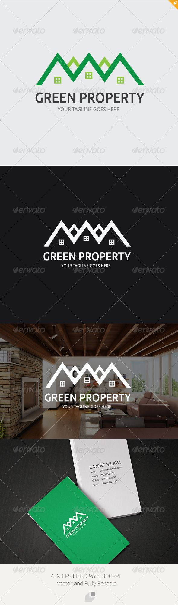 Green Property Logo  #GraphicRiver