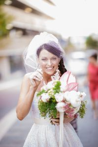 Wedding // Our Big Day // Bouquet // Bride // Birdcage Veil
