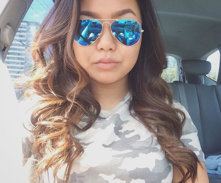 #selfie #camo #OOTD #curls #RayBans #toronto