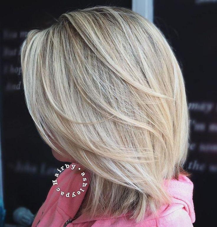 60 Lustige Und Schmeichelhafte Mittlere Frisuren Fur Frauen Frauen Frisuren Lustige Mittlere Sch Hair Styles Medium Hair Styles Medium Length Hair Styles