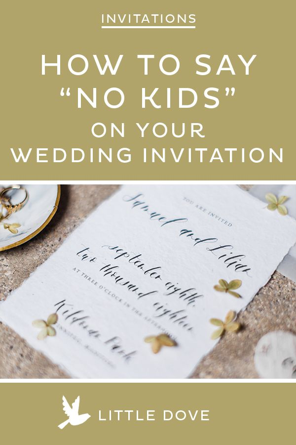 Not Inviting Kids To Your Wedding Here