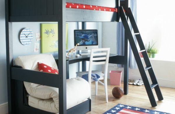 31 idées déco chambre  garçon - lits-superposés-idées-déco- chambre-garcons