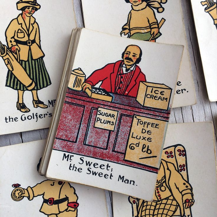 1920s Happy Families card game. Early Chad Valley wonderfully illustrated card game, in original box with rules. Gift for collector. by VintageCuriosityShop on Etsy