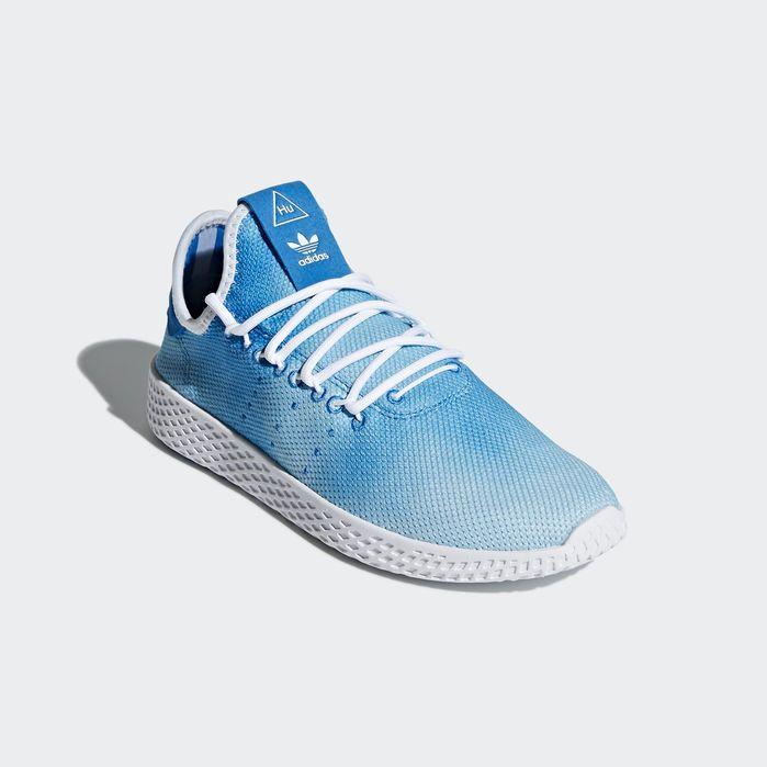 Pharrell Williams Tennis Hu Shoes Blue 7 Kids Blue Shoes Williams Tennis Blue Adidas