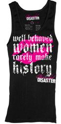 Womens Well Behaved Tank Top|SubCulture Clothing Store comes in purple or black... on special now
