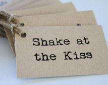 Shake at the Kiss Tags for Maracas (Mexican / Country / Rustic Wedding) Australia