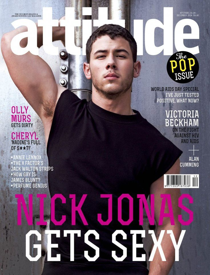 Nick Jonas & Olly Murs Cover Attitude December 2014 Issue image Nick Jonas Attitude December 2014 Cover 800x1047