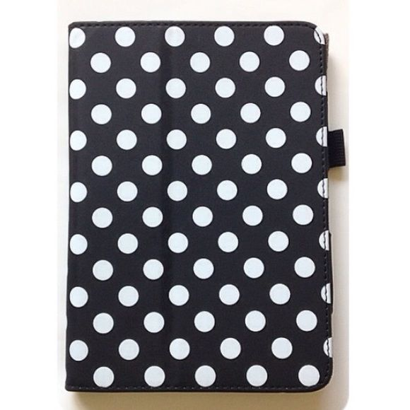 kindle fire case  Kindle Fire HDx7 case. Black and white polkadots. Never used.   no trades, paypal, & mercari  bundle for 15% discount  not smoke or pet free Accessories Tablet Cases