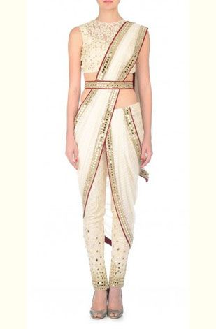 latest-saree-trends-2016-designs-designer-pre-draped-concept-neeta-lulla-white-belted