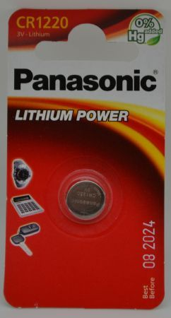 BATTERIA PANASONIC CR1220 LITHIUM 3V