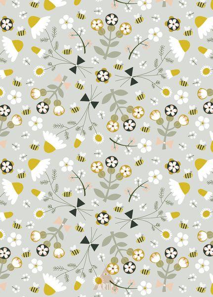 Chamomile floral pattern Art Print by Artipi   Society6
