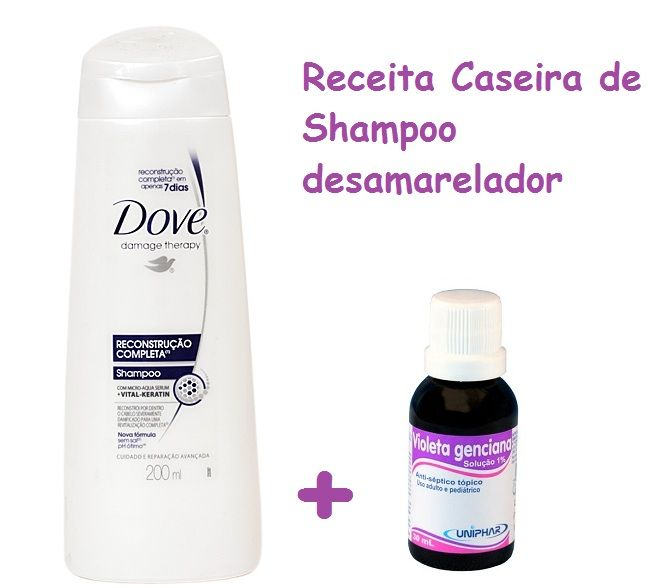 Como fazer shampoo desamarelador caseiro passo a passo 1