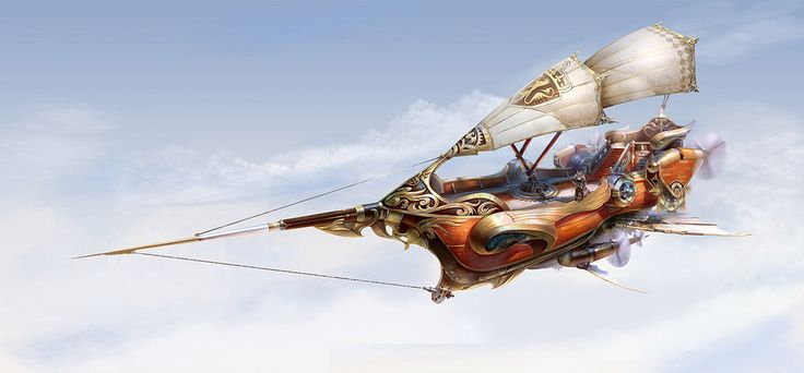 Looks about the right size for a crew of 5. ;) Fantasy Airship by *yuchenghong on deviantART